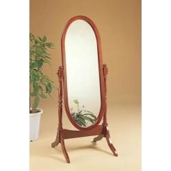Full Length Oval Cheval Mirror - Oak