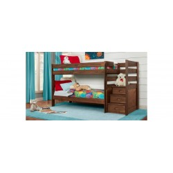 Twin Stairstep Chestnut Bunkbed