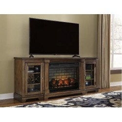 """Flynnter 75"""" TV Stand w/ Electric Fireplace"""